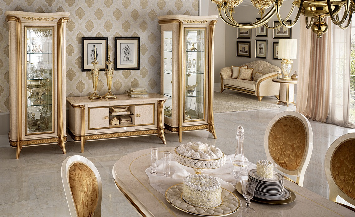 ... Hoogglans Woonkamers > MELODIA hoogglans barok goud woonkamer meubelen