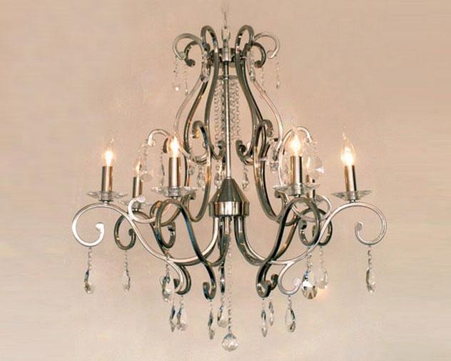 Stijlvol Kristallen Hanglampen : Kroonluchter met kristallen hanglampen woiss meubels