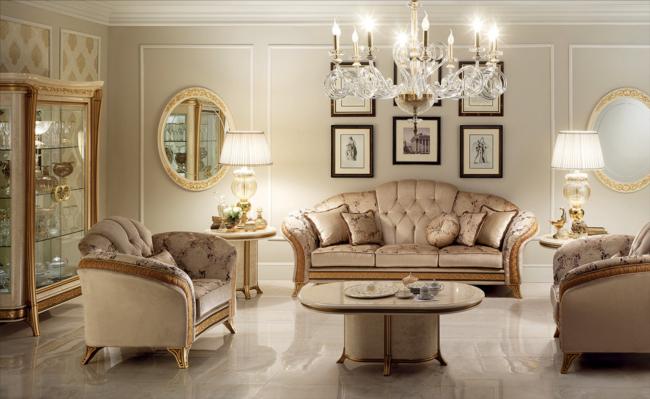 Luxe Italiaanse Bankstellen.Barok Italiaans Design Bankstel In Luxe Stof Stoffen