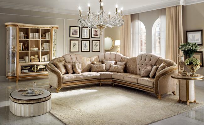 Leren Bank Barok.Barok Italiaans Design Bankstel In Luxe Stof