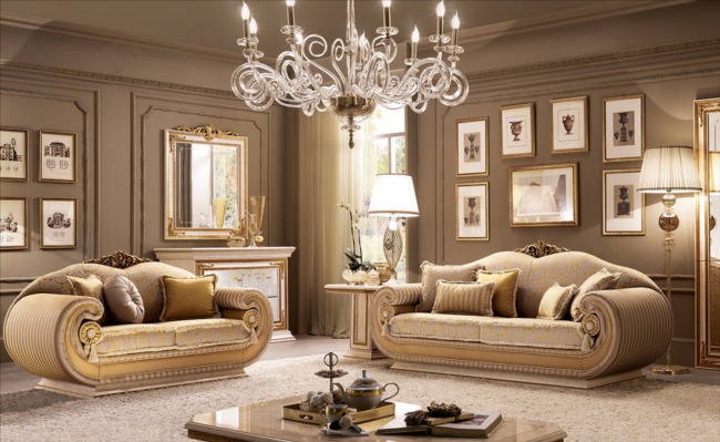 Luxe italiaanse design klassieke stoffen bankstel meubels for Mobili stile moderno contemporaneo