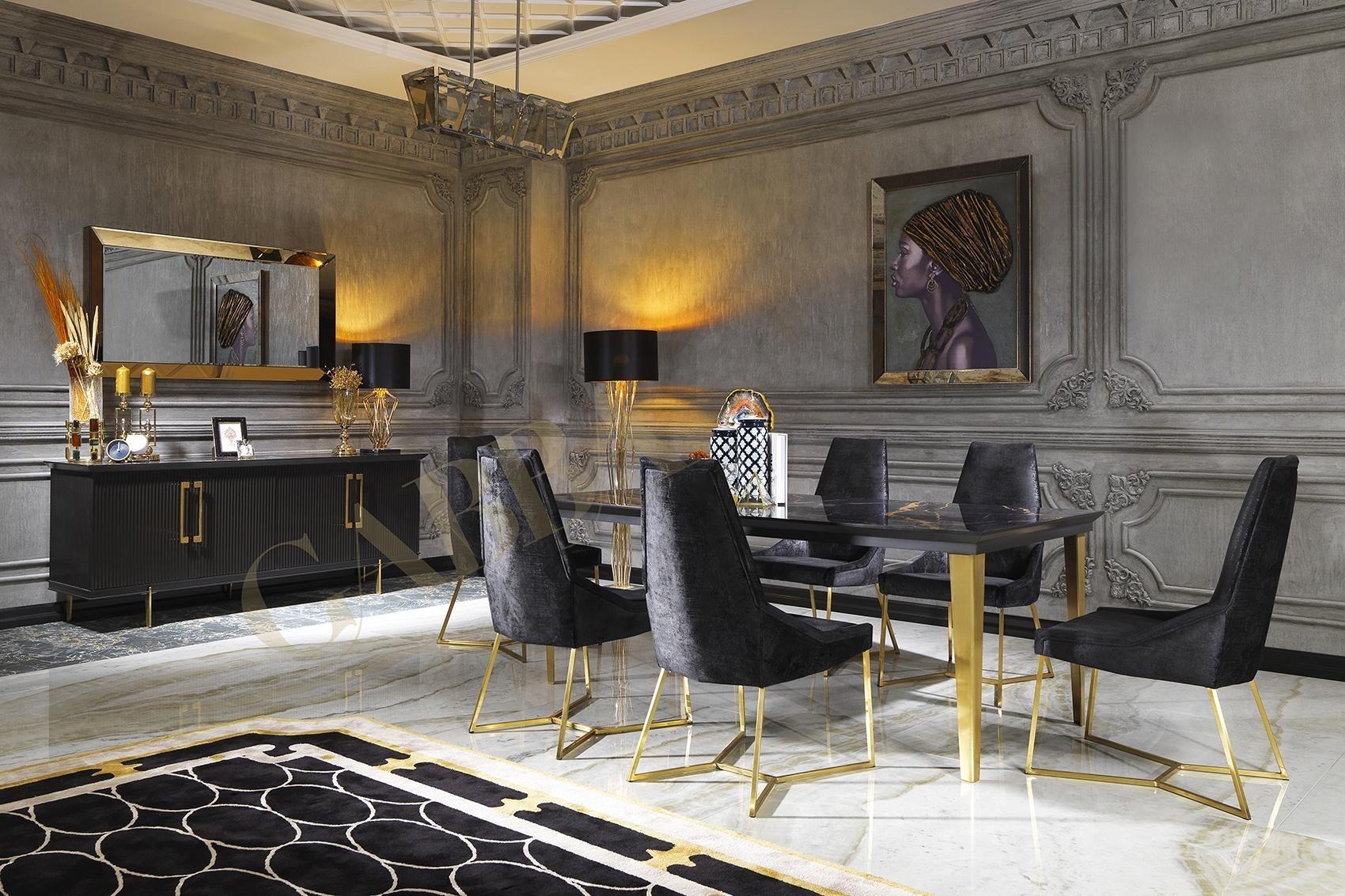 Woonkamer Ideeen Klassiek.Cavalli Black Klassiek Chique Stijl Modern Interieur Hoogglans